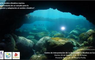 Charla cambio climático marino. Establecimiento de un estudio para mitigación y adaptación al cambio climático.